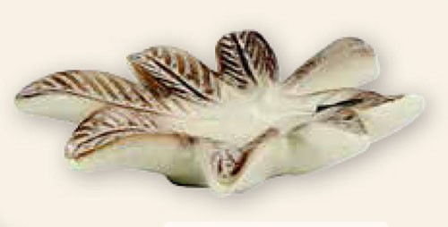 Keramik-Schale in dekorativer Blattform
