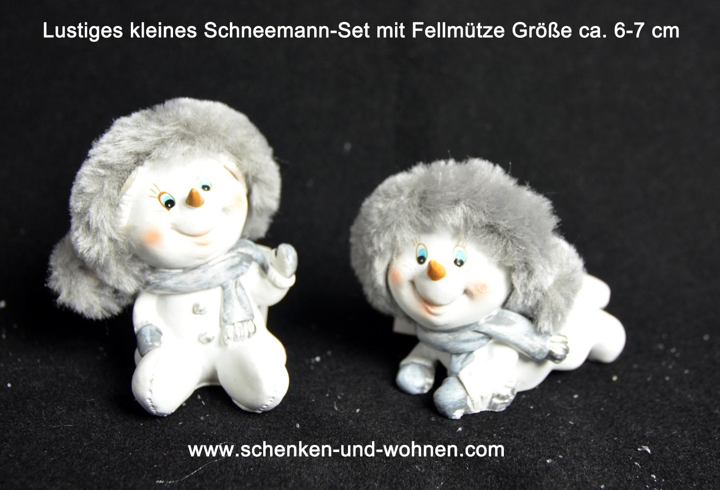 Lustiges kleines Schneemann-Set ca. 6-7 cm