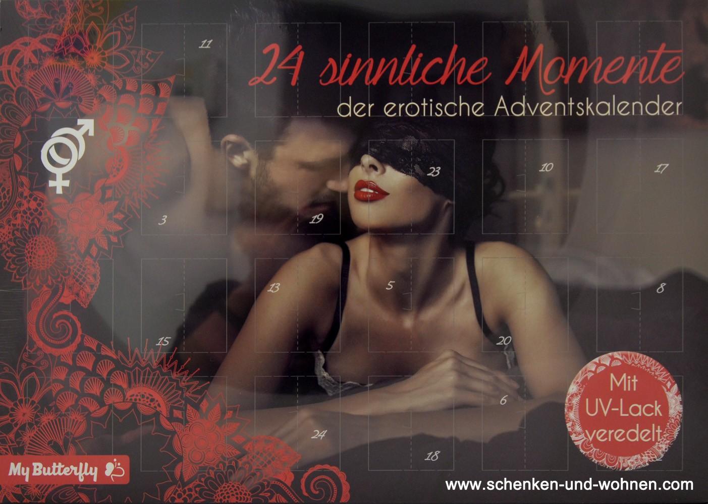 """Erotik-Adventskalender """"24 sinnliche Momente"""" 50 x 35 x 4 cm"""