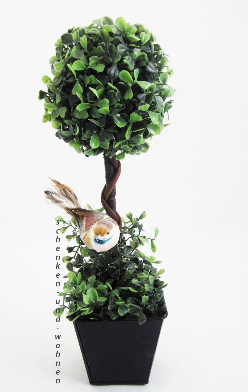 k nstlicher buchsbaum buxus auf stamm im topf ca 40 cm hoch schenken und. Black Bedroom Furniture Sets. Home Design Ideas