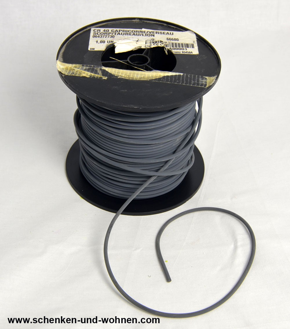Schweißschnur 4 mmx5m PVC Cordon CR40 grau Meterware