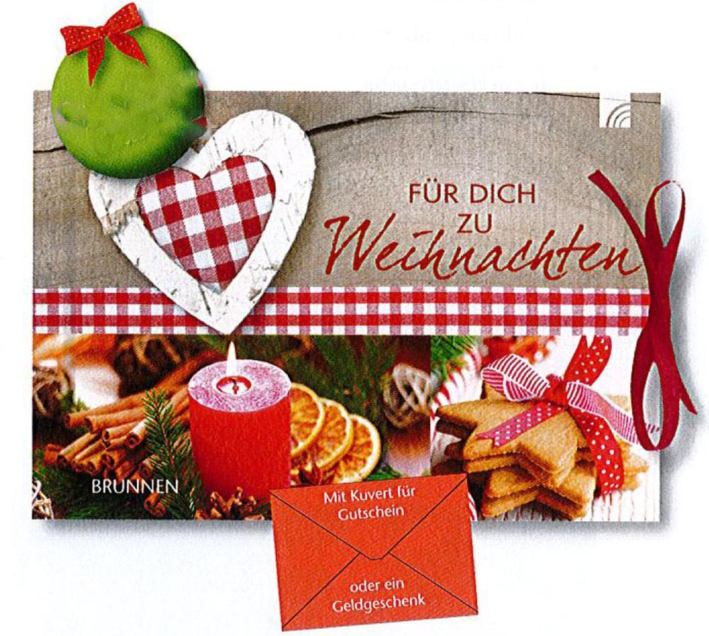 """Geschenkbuch Gutscheinbuch """"Für Dich zu Weihnachten"""""""