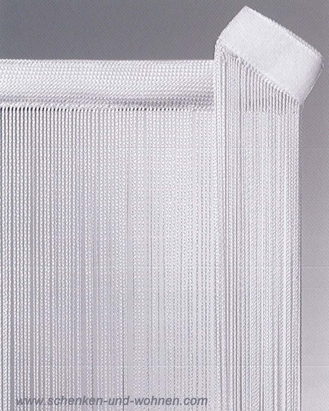 fadengardine paneele fl chenvorhang 60 x 250 cm wei mit flauschband schenken und. Black Bedroom Furniture Sets. Home Design Ideas