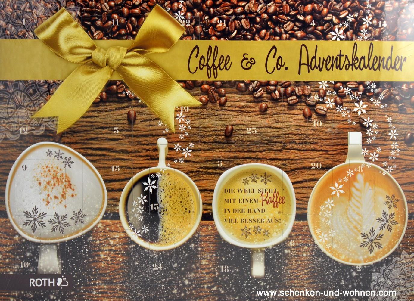 Kaffee-Adventskalender 50 x 35 x 4 cm