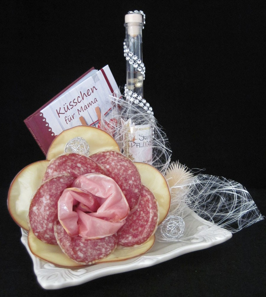 Gourmet-Schale mit Wurst-/Käserose