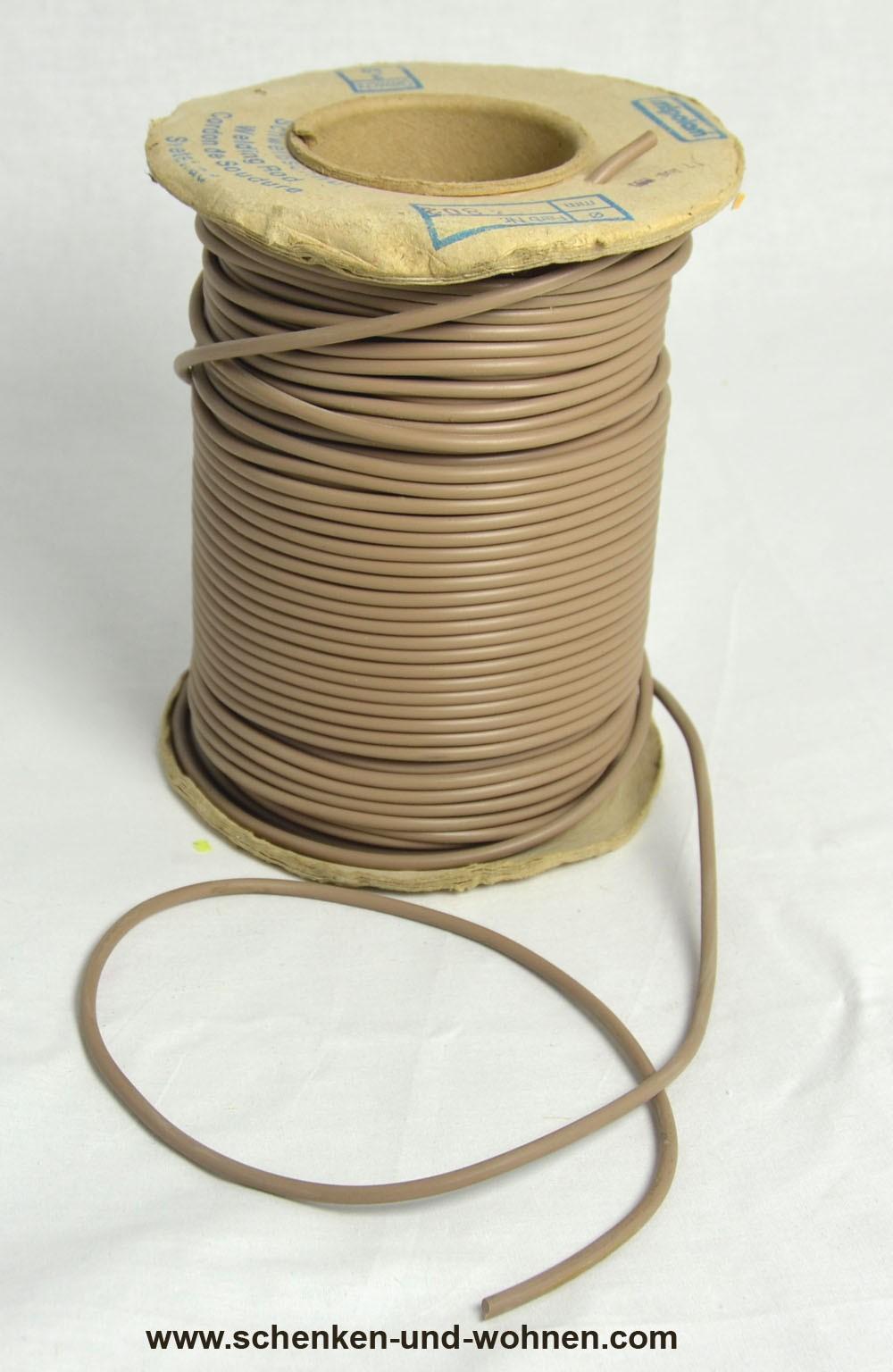 Schweißschnur 4 mmx5m PVC hellbraun 84802 Meterware