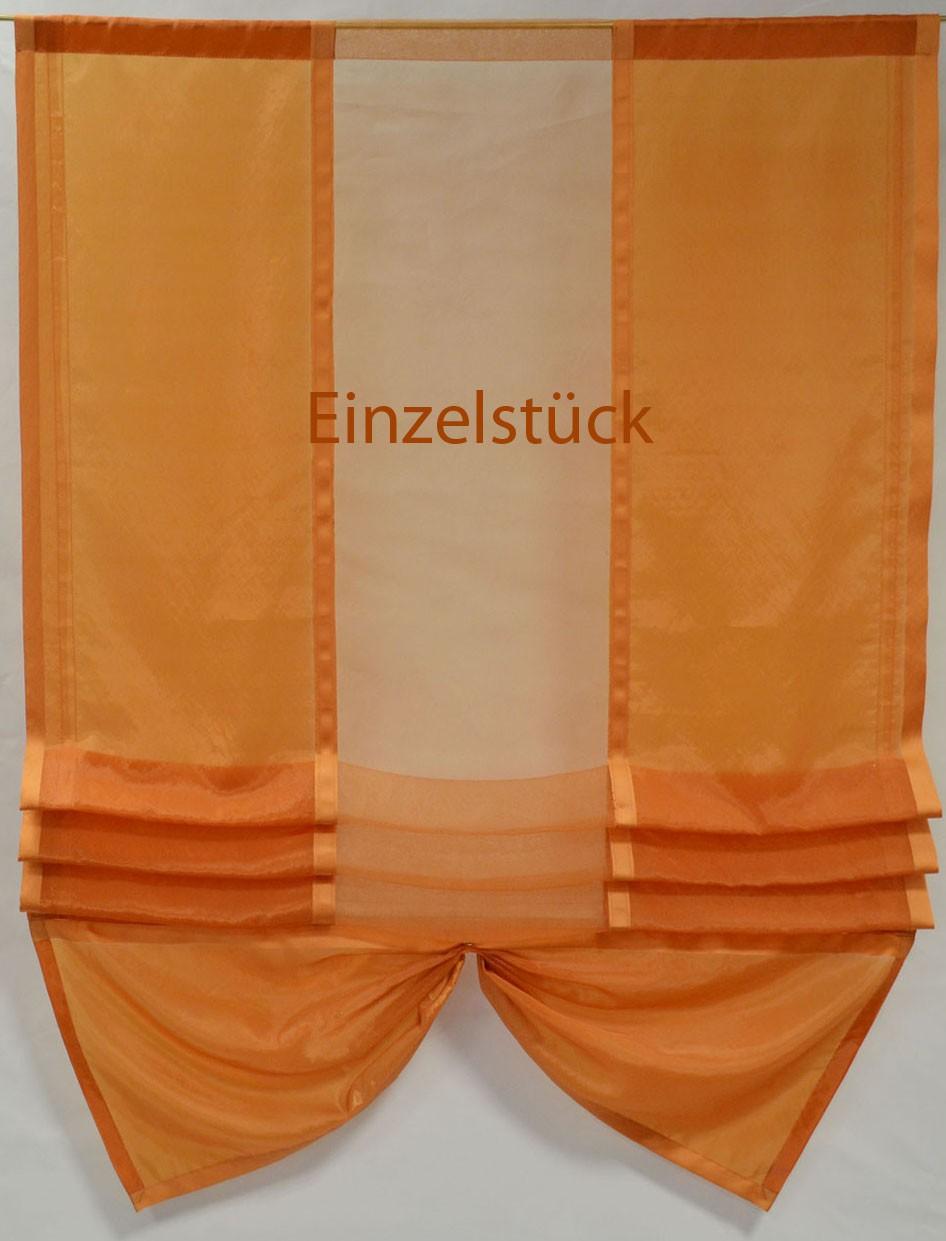"""Raffgardine ohne Bedienung """"Organza"""" orange ca. 97 x 125 cm (B/H)"""