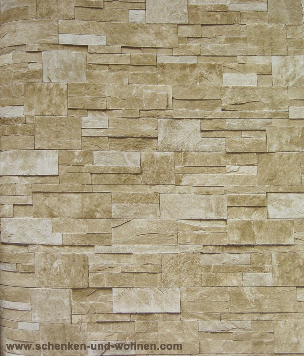 tapete vlies steinoptik breite 1 06 m rollenl nge 10 05 m beige sand schenken und. Black Bedroom Furniture Sets. Home Design Ideas