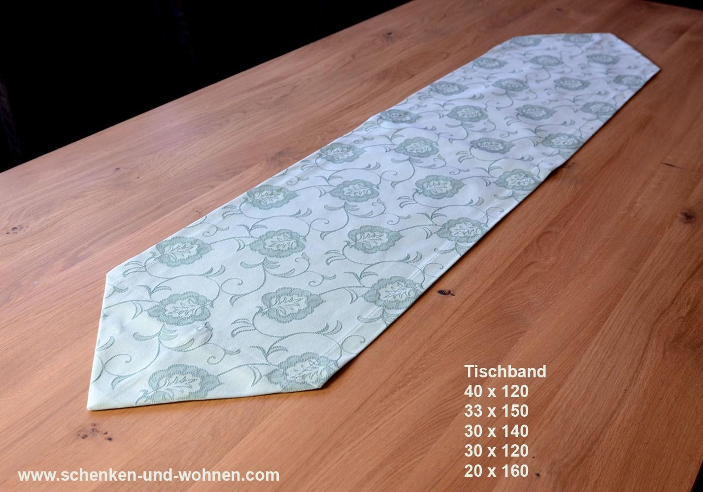 Tischwäsche Tischband 20 x 160 cm schilfgrün