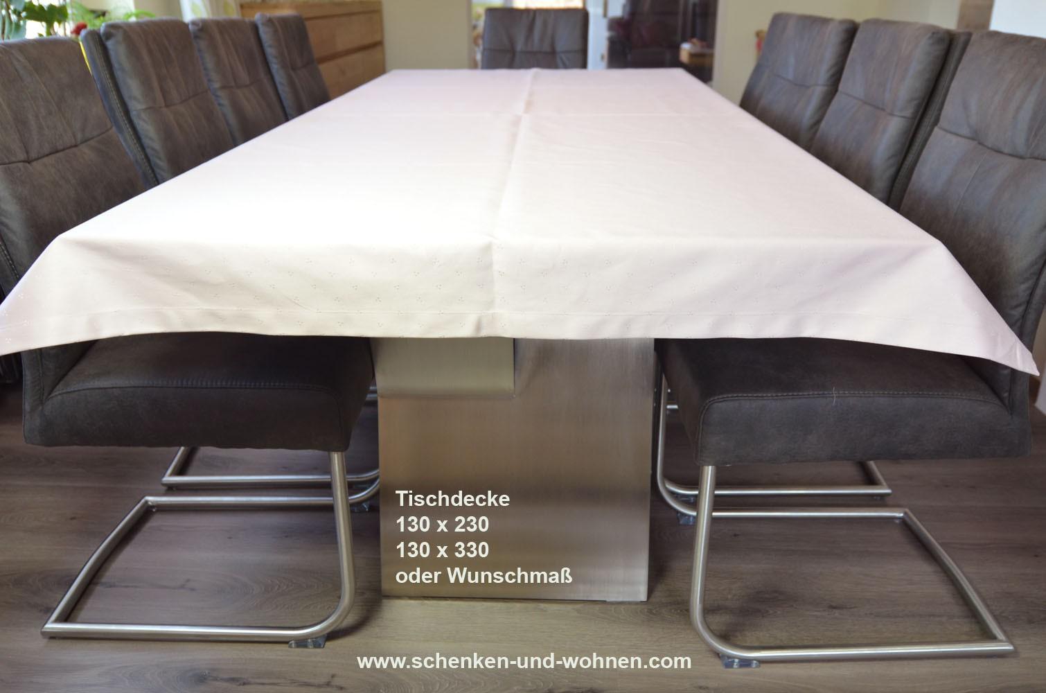 Tischwäsche Tischdecke 130 x 330 cm rosé