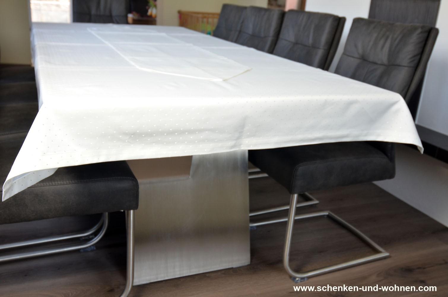 Tischwäsche Tischdecke 130 x 230 cm wollweiß