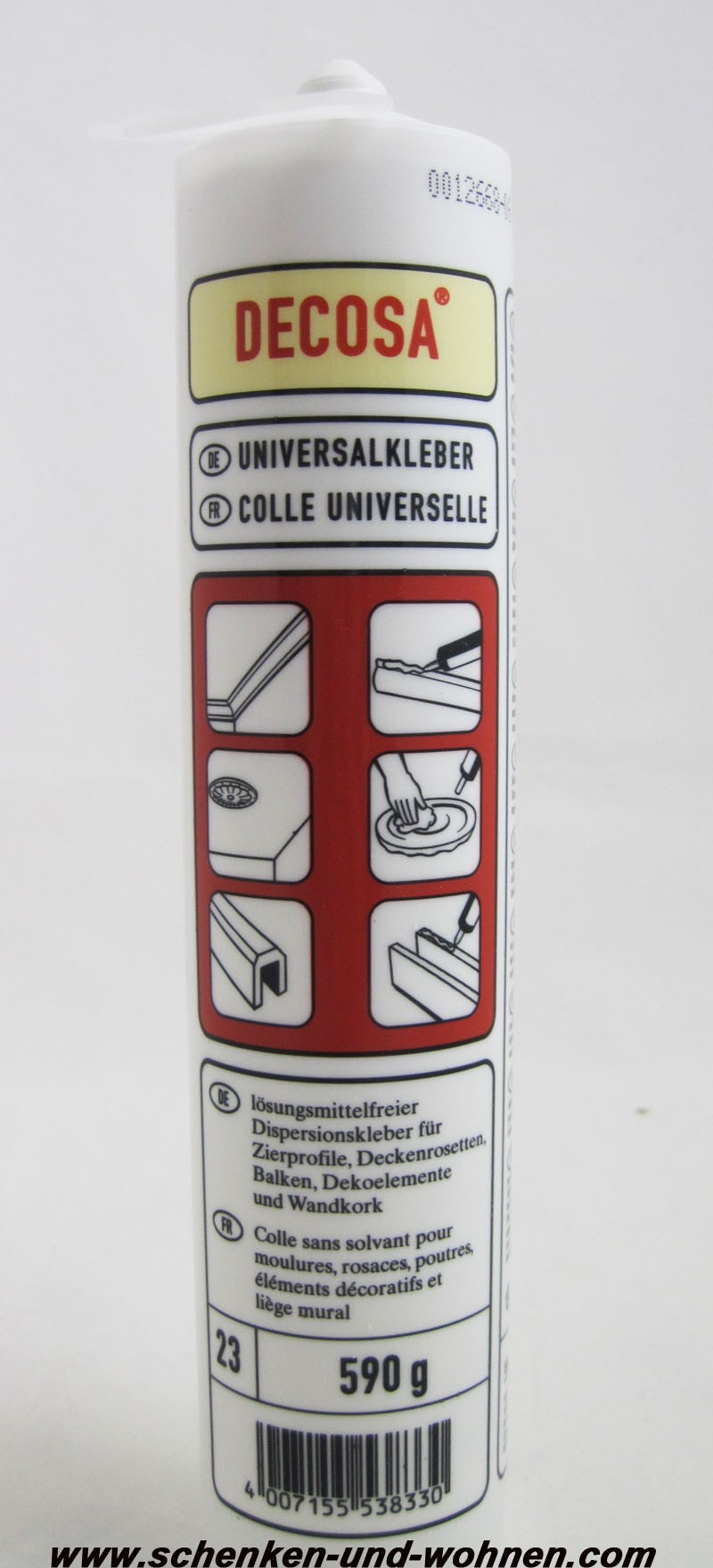 decosa universalkleber kartusche 310 ml schenken und. Black Bedroom Furniture Sets. Home Design Ideas