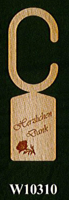 """Flaschenhalsanhänger """"Herzlichen Dank"""""""