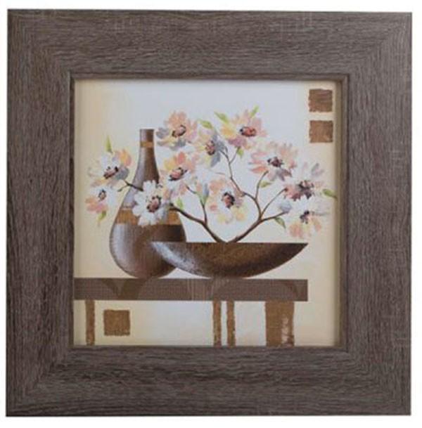 """Modernes Bild """"Vase mit Blumen"""" mehrfarbig ca. 44 x 44 cm"""