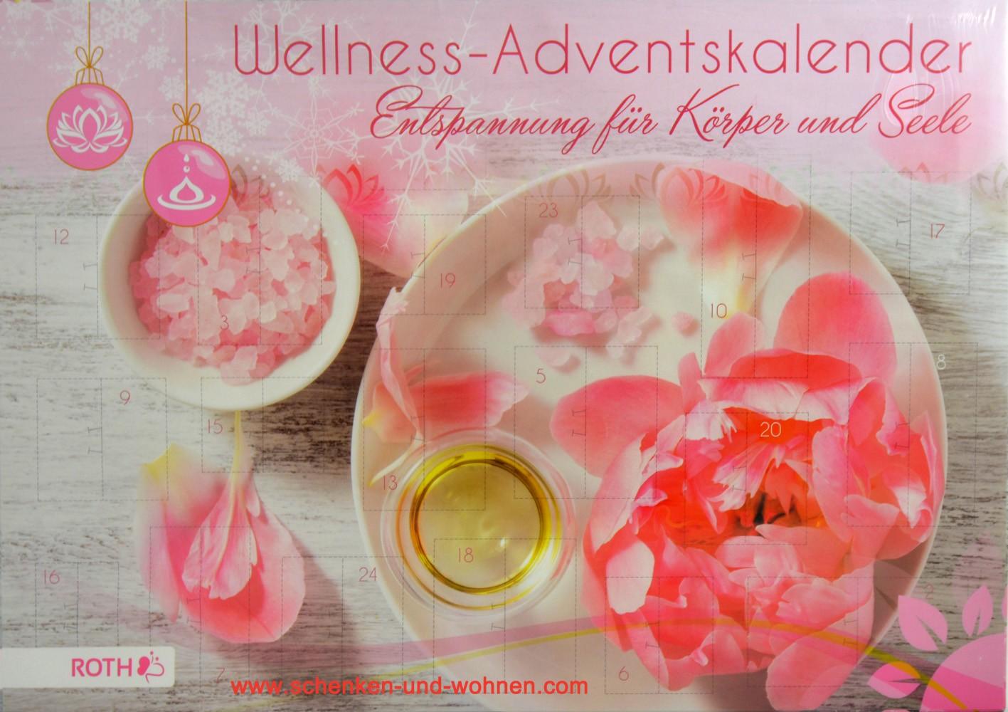 "Wellness-Adventskalender ""Entspannung""  50 x 35 x 4 cm"