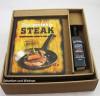 Männer-Steakbuch-Set incl. 260 g BBQ Sauce im Geschenkkarton