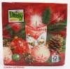 Weihnachts-Lunch-Servietten Kerze/Kugeln 20 Stück 33 x 33 cm