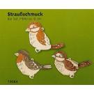 Baum- & Straußschmuck aus Holz 6er Sets