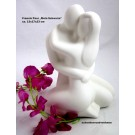 "Francis Paar ""Mein Schwarm"" - Skulptur, Creme ca. 13 x 17 x 23 cm"