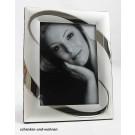 Fotorahmen 10 x 15 Kreis silber matt / glänzend