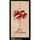 """Glückwunschkarte """"Hochzeit"""" Klappkarte Furnier 21 x 10 cm"""