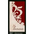 """Glückwunschkarte """"Silberhochzeit"""" Klappkarte Furnier 21 x 10 cm"""