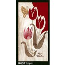 "Geldgeschenkkarte ""Tulpen"" Klappkarte Furnier 21 x 10 cm"
