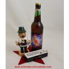 Weihnachtspräsent Räuchermann Bayer mit Bier