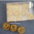 Drahtbälle, Drahtkugeln 12-er Set Kupfer, ca. 3 cm Durchmesser