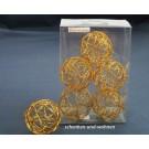 Drahtbälle, Drahtkugeln 6-er Set Kupfer, ca. 7 cm Durchmesser