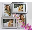 Fotorahmen Bilderrahmen 4-teilig 10 x 15 Silber, matt glänzend