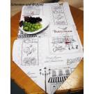 Tischläufer - Stadtbummel - Beige, Gobelin 38 x 130 cm spitz