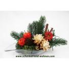 Weihnachtliches Gesteck in Glasschale ca. 30 x 10 x 16 cm (L/B/H)