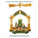 Hubrig - Pyramide Großmutters Weihnachtsstube 35 x 25 cm HxD mit Figuren