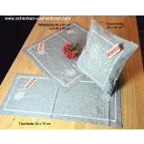 Tischläufer 30 x 75 cm Schneekristall grau