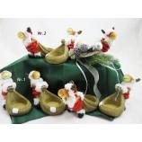 Teelichthalter Elch Hugo, rote Steppjacke  ca. 10,5 x 6,5 x 14 cm,  V2