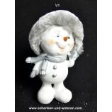 Lustiger Schneemann mit Fellmütze V1 ca. 11 cm