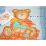 Wohn-und Schlafdecke  Baby Perla -Teddy Blau, 80 x 110cm, 600g/m²