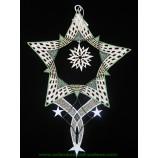 Fensterbild Stern in Stern, Grün  -Durchmesser ca. 25 cm