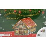 Räucherkerzen-Adventskalender Räucherhaus 18x18x22