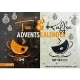 Adventskalender Tee und Kaffee 50 x 30 x 3,5 cm