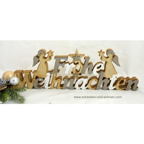 schriftzug aufsteller holz frohe weihnachten ca 40x14x2 5 cm bxhxt schenken und. Black Bedroom Furniture Sets. Home Design Ideas