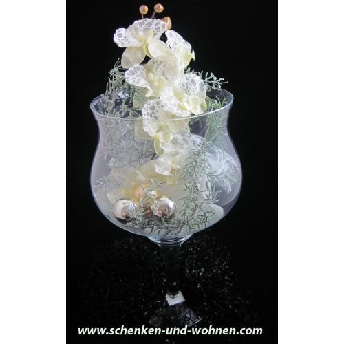 Deko glas weihnachtlich dekoriert ca 50 x 26 cm h b schenken und - Deko glas weihnachtlich dekorieren ...