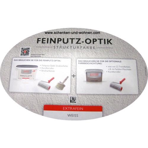 feinputz optik strukturfarbe extrafein 16 kg sch ner. Black Bedroom Furniture Sets. Home Design Ideas