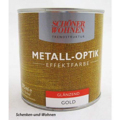 metall optik effektfarbe gold gl nzend 375 ml schenken und. Black Bedroom Furniture Sets. Home Design Ideas