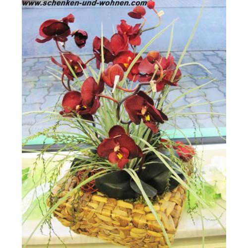 kunst orchidee phalaenopsis bordeaux ca 42 cm schenken und. Black Bedroom Furniture Sets. Home Design Ideas