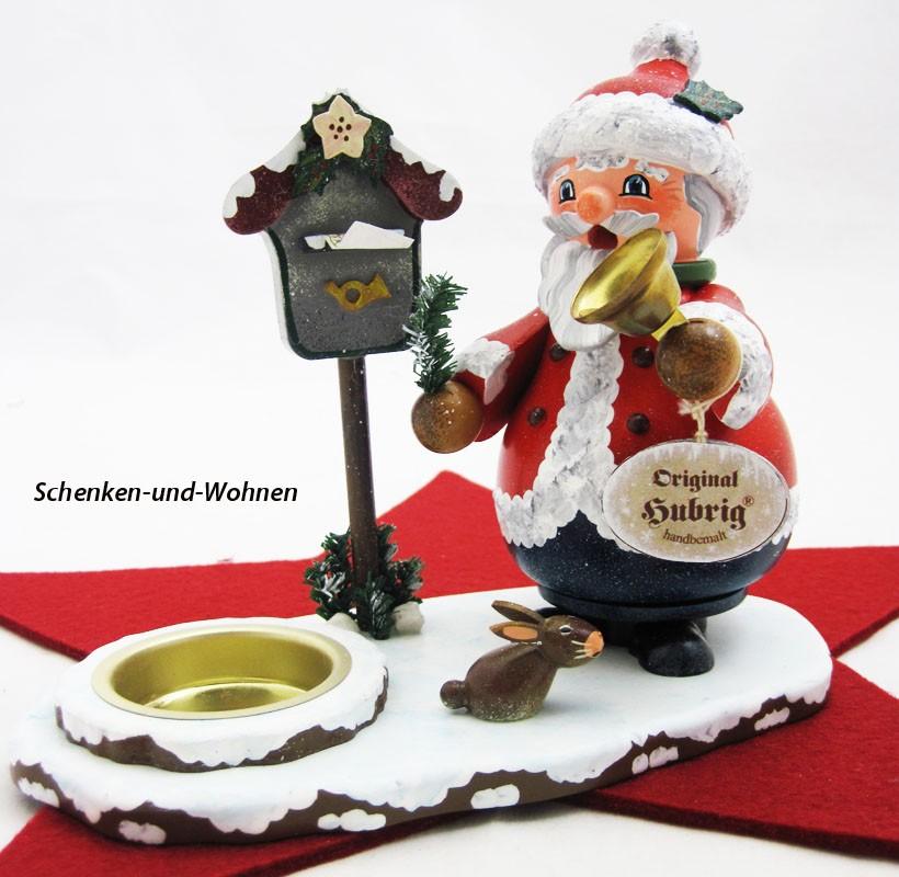 Weihnachtsmann mit Teelicht
