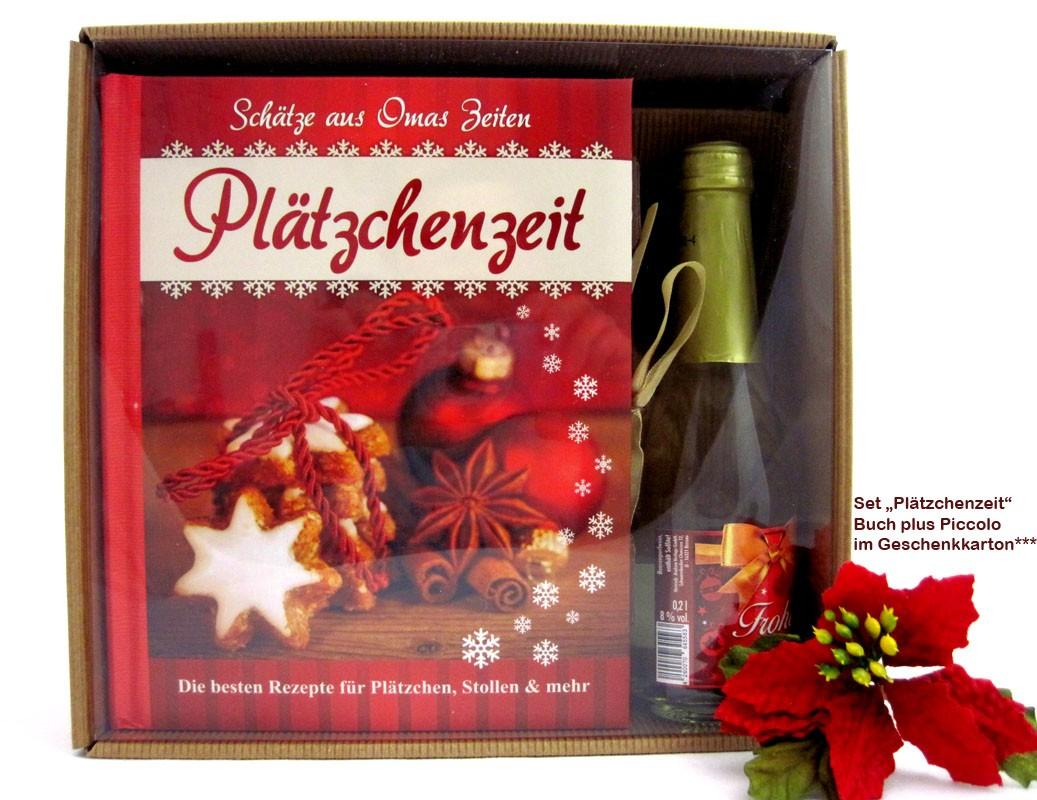 """Backbuch-Set """"Plätzchenzeit"""" Buch und Piccolo 0,2L"""
