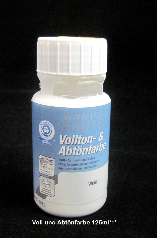 Voll- und Abtönfarbe Weiß 125 ml