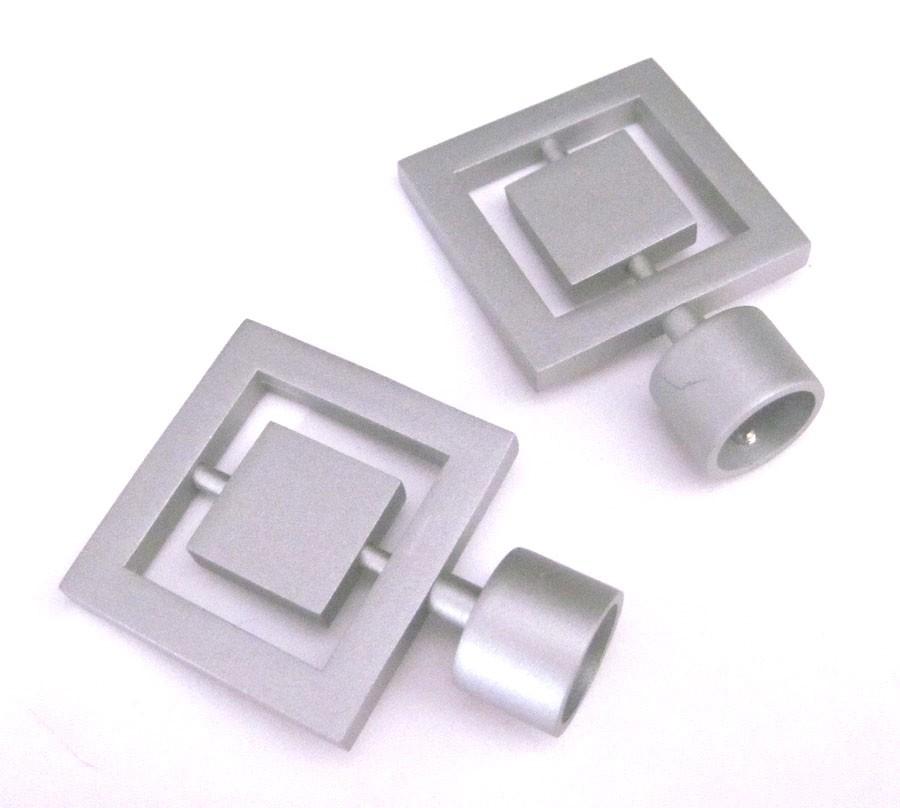 Endstück  Quadrat  für Gardinenstangen